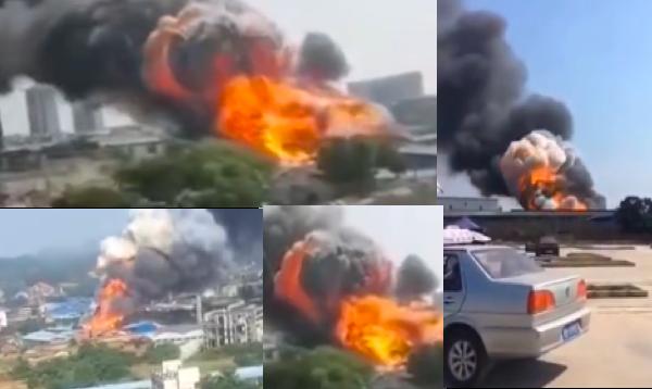 【现场视频】广西柳州一公司起火 伴随巨响