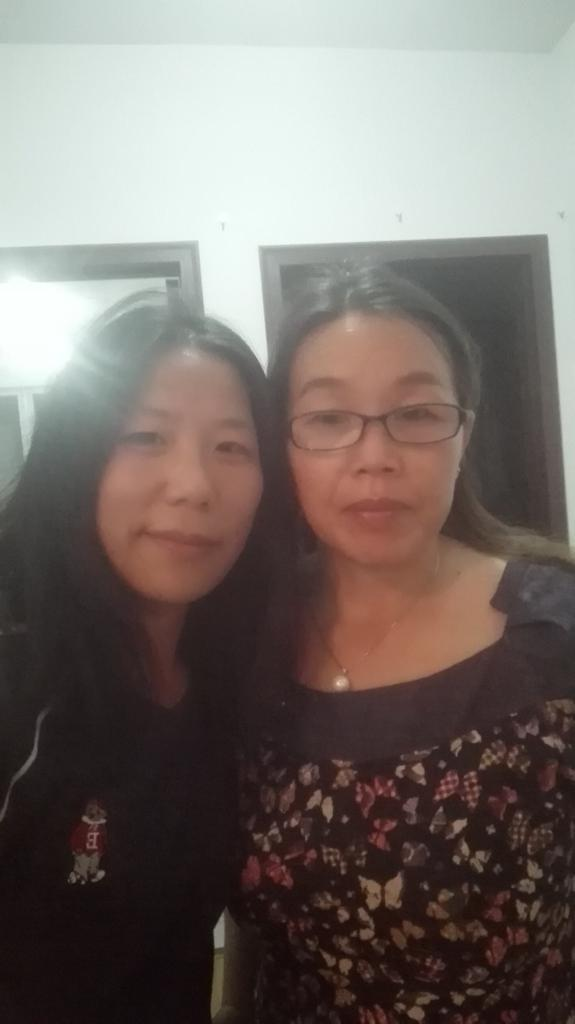 毛欣馨(左)和「709案」家屬劉二敏(右)。(毛欣馨提供)
