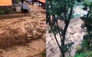 近期,云南怒江多地出现泥石流、塌方等情况,导致多地道路阻断。(视频截图合成)