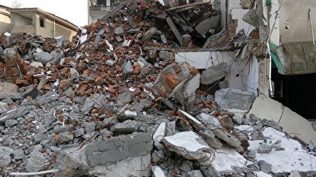 被強拆後的廢墟(受訪者提供)