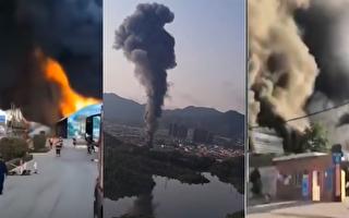 【現場視頻】石家莊、深圳均現火災 濃煙滾滾