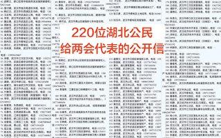 湖北220名公民向两会发信 吁解决上访积案