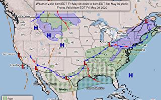 冷气团与极涡袭美 或将创同期最冷纪录