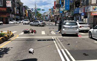 闯红灯机车汽车碰撞  中坜警开罚吁守交通号志