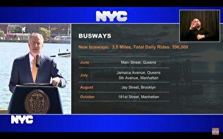 紐約市新增20哩公車道 法拉盛緬街6月設立