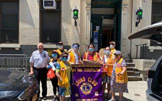 狮子会纽约环球分会向市警5分局捐餐感谢克尽职守