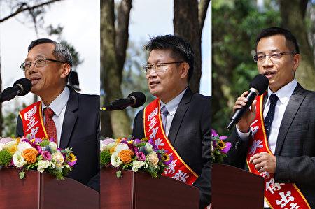 第17届杰出校友有三位亲自出席毕业典领奖,左起:张智年、叶达勋和王陈鸿。