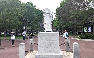 【视频】波士顿哥伦布雕塑被砍头