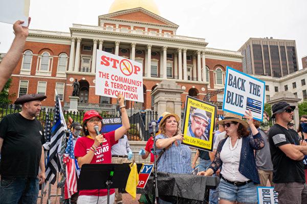面对BLM抗议 麻州传统派吁抵制共产主义