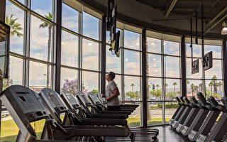 健身房重启首日 民众询问观望