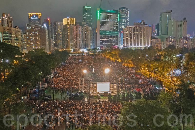 組圖:香港維園紀念六·四珍貴歷史畫面