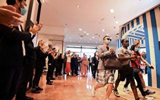 組圖:巴黎著名老佛爺百貨重新開業