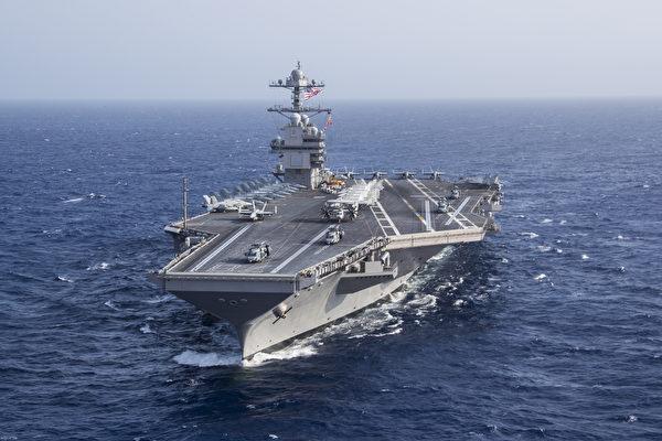 福特號航母在大西洋。(U.S. Navy photo by Mass Communication Specialist 2nd Class Ruben Reed/Released)