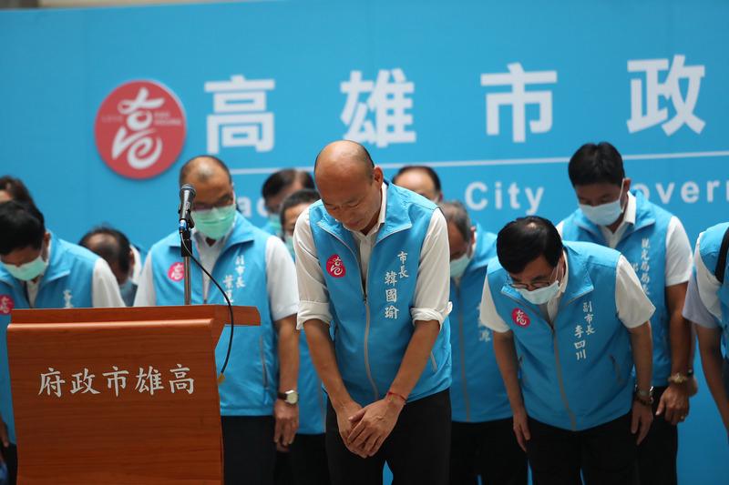 台史上首度成功罷免 逾93萬高雄人踢走親共市長韓國瑜
