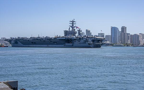 6月8日,尼米茲號(CVN-68)航母於當地時間上午11:30離開聖地牙哥母港,將部署在西太平洋。(U.S. Navy photo by Mass Communication Specialist 2nd Class Natalie M. Byers/Released) USNI新聞了解到,普林斯頓號巡洋艦已於上周六從聖地牙哥海軍基地出發。