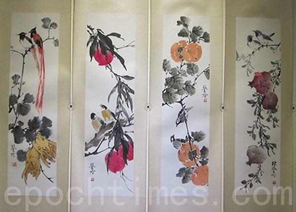 组图:渡海来台名画家 95高龄杜簦吟回顾展
