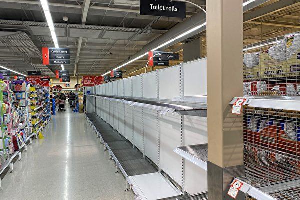 澳洲消费者横扫过的超市货架