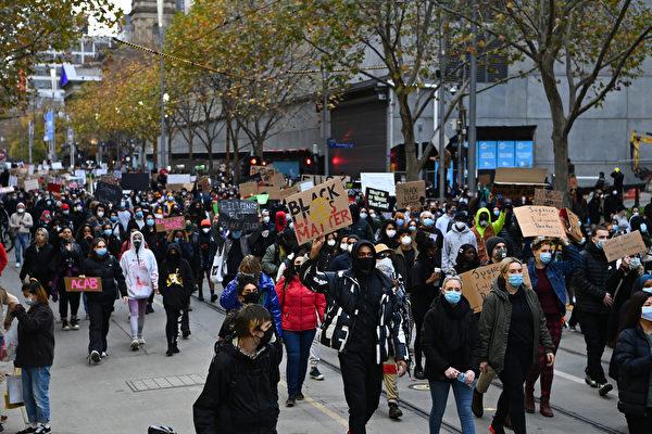 墨爾本「黑命貴」抗議活動現場