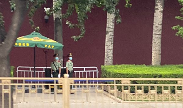 2020年6月22日,北京長安街上。(大紀元)