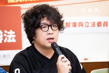 台北大學犯罪學研究所助理教授沈伯洋。(陳柏州/大紀元)