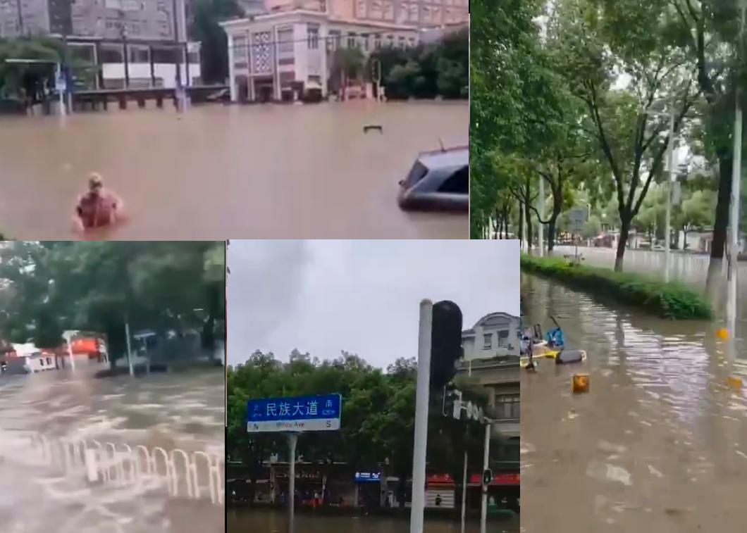 【影片】武昌淹大水 湖北五大湖水位全超汛限