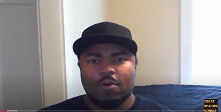 黑人博主Terry Swoope2016年發表影片,說明他反對BLM組織的理由。(影片截圖)