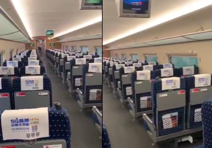 【現場片段】返京列車無旅客 一人坐一節車廂