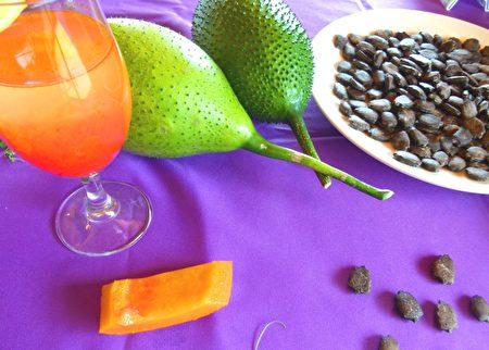 木虌果因种子很像生物鳖而得名,营养价值丰富。