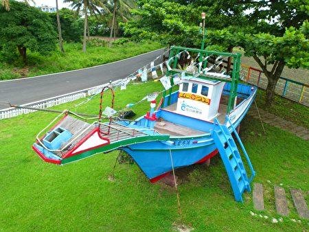 成功渔港曾经一起捕黑鲔如今退休的渔船。