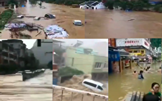 广西学校被水淹 湖南贵州46县市发生洪涝