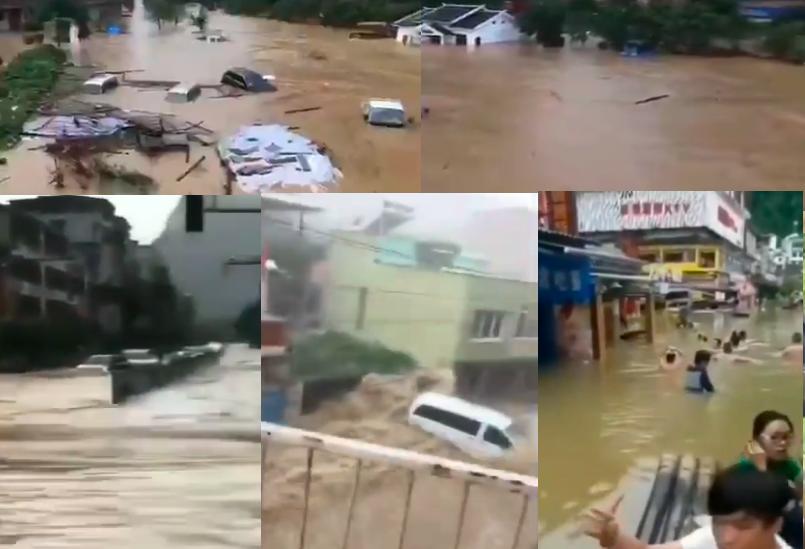洪澇蔓延中國南方11省 262餘萬人受災