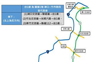 端午连假省道  第一区养护工程处:替代道路