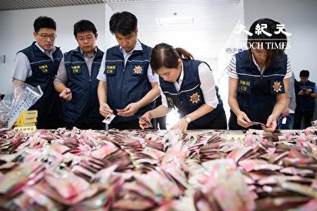 刑事局长黄明昭表示,检警于5月18日查扣三级毒品喵喵原料共3千余公斤。