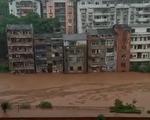 6月22日,重慶暴雨,官方稱,預計在未來8小時內綦江流域將出現1940年來最大的洪水。(視頻截圖)