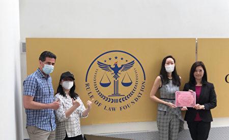 (左起)董事長Max Krasner、秘書唐藝、 經理Grace Yang 及王憲筠。