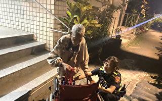 暖警出手助瘫坐路旁失智老妇  帮轮椅老翁回家