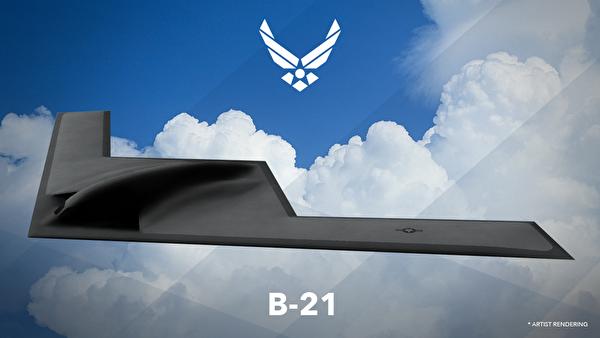 B-21隱形轟炸機今年擬試飛,日前美軍利用軟件現代化技術,已有效提升性能,加速投入戰備。圖為B-21戰機想像圖。(美國空軍)