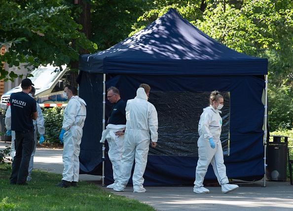 2019年8月23日,一名40歲格魯吉亞男子在柏林被槍殺,警方在調查。(PAUL ZINKEN/DPA/AFP via Getty Images)