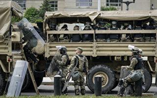 麻州国民警卫队进驻波士顿