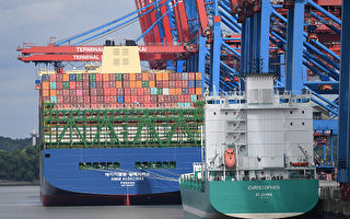 汉堡首次迎来全球最大集装箱船