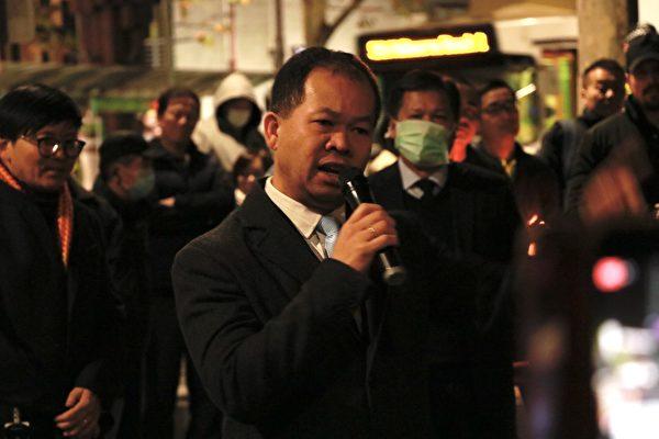 澳洲越南社區協會主席阮本(Bon Nguyen)表示將一直支持法輪功修煉者。(李奕/大紀元)