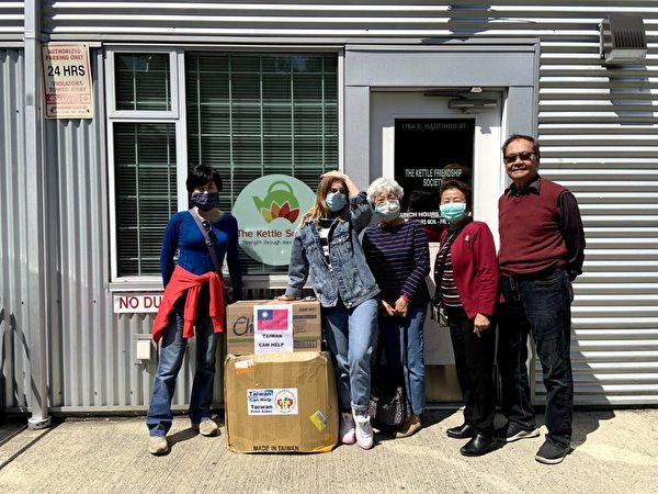 图:加拿大台湾同乡会在加拿大疫情期间,积极筹款从台湾购买防疫物质,捐赠给加国社区支持防疫前线。(大温哥华台湾同乡会提供)