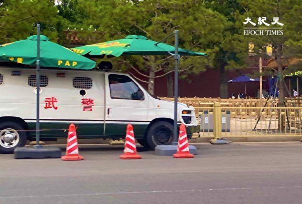 2020年6月22日,北京的警車。(大紀元)
