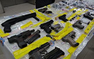 修法後首波全國肅槍 警逮108人、緝獲148槍