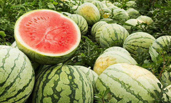 """西瓜是水果中""""预防中暑的人气王"""",它有""""天生白虎汤""""的美称。(Shutterstock)"""