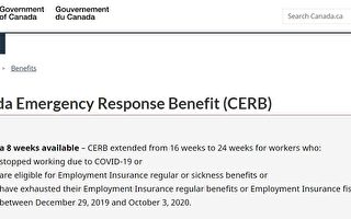 加国CERB补助金部分领取者被中断付款