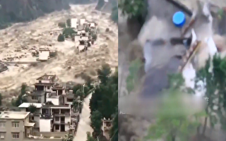 四川泥石流 房屋瞬间被冲毁 2万余人被转移