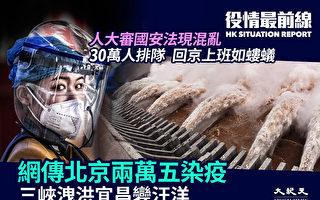 【疫情最前線】網傳北京2萬5000人染疫