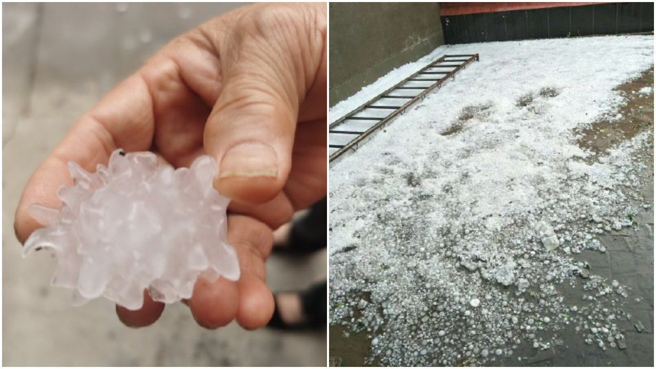 端午節北京下冰雹 形狀酷似中共病毒