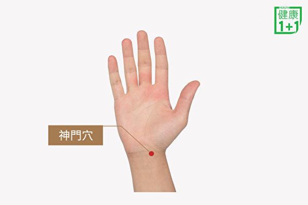 舒缓甲状腺亢进症状的穴位之:神门穴。(健康1+1/大纪元)